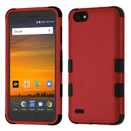 ZTE Blade Force Case, by Insten Tuff Hard Plastic/Soft TPU Rubber Case Cover For ZTE Blade Force, Black - image 5 de 5