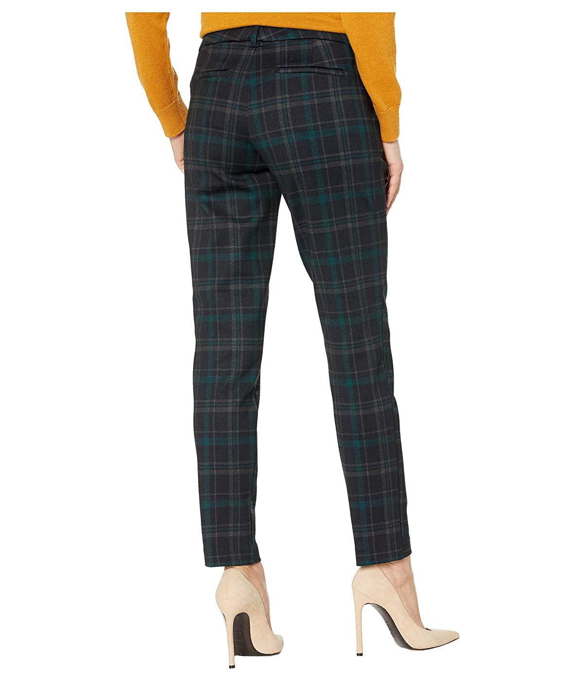 Liverpool Liverpool Kelsey Knit Trousers In Tartan Plaid Knit Black Evergreen Walmart Com Walmart Com
