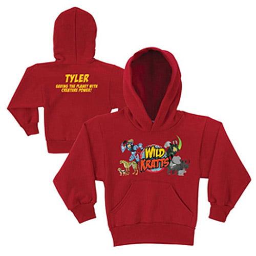 Personalized Wild Kratts Creature Adventure Red Kids' Hoodie