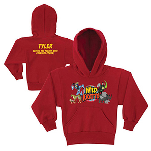 Personalized Wild Kratts Creature Adventure Red Kids' Hoodie