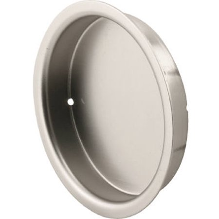 Slide-Co 163920 Mortise Closet Door Pull, 5/16 in. Depth x 2-1/8 in. Outside Diameter, Solid Steel, Satin Nickel (Mortise Pull)