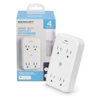 Merkury Innovations Smart Outlet Extender, Surge Protection, 4 Outlets