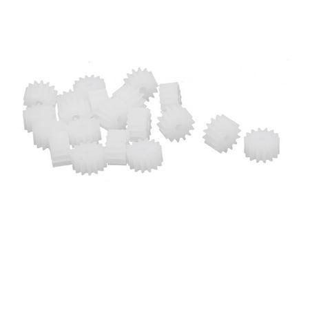 20pcs 14 Teeth 8mm Dia Plastic Gear Wheel for Toy Car Motor Shaft