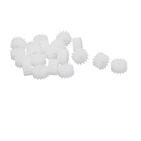 20pcs 14 Teeth 8mm Dia Plastic Gear Wheel for Toy Car Motor -