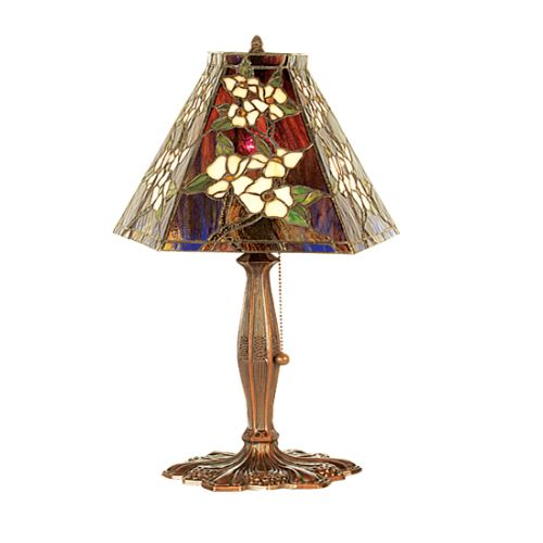 Meyda Tiffany 81619 Tiffany Single Light Up Lighting Table Lamp from the Peony C