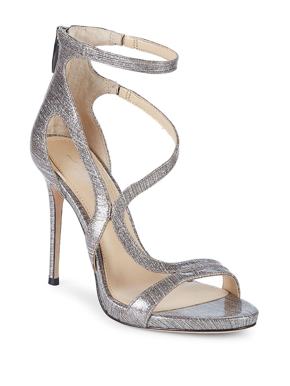 Demet Metallic Leather Sandals