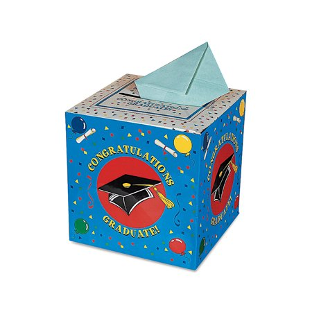Fun Express - Graduation Card Box for Graduation - Party Supplies - Containers & Boxes - Paper Boxes - Graduation - 1 Piece](Graduation Party Card Box)