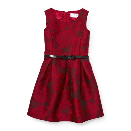 The Children's Place Floral Jacquard Holiday Dress (Little Girls & Big Girls) - Children's Chinese Dress