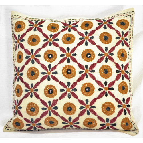 OMSutra Artisanal Hand Embroidered Throw Pillow