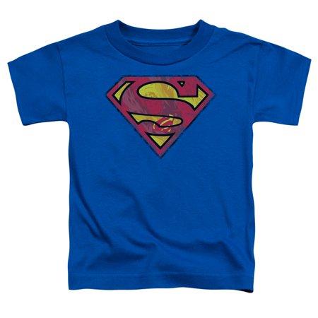 Superman/Action Shield S/S Toddler Tee Royal Sm1150 100 Roman Tub Set