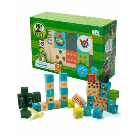 Wooden Number Building Blocks - image 1 de 2