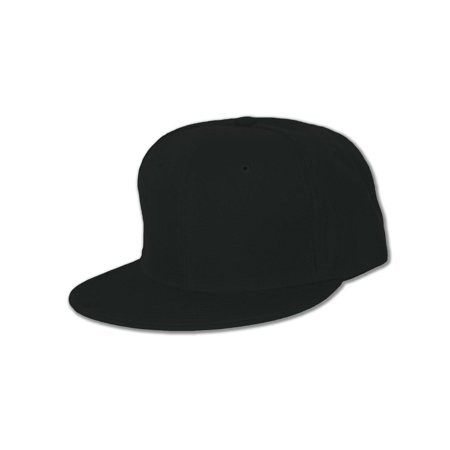 Blank Flat Bill Baseball Hat (More Colors Available), 7 1/2-Black - image 1 of 1