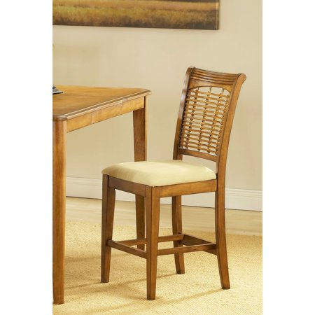 Hillsdale Bayberry Non-Swivel 24 Inch Counter Height Stool in Oak (Set of 2)