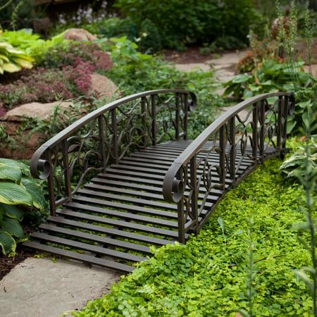 Coral Coast Willow Creek 6-ft. Metal Garden (Japanese Garden Bridge)