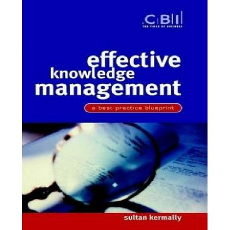 Effective Knowledge Management: A Best Practice Blueprint