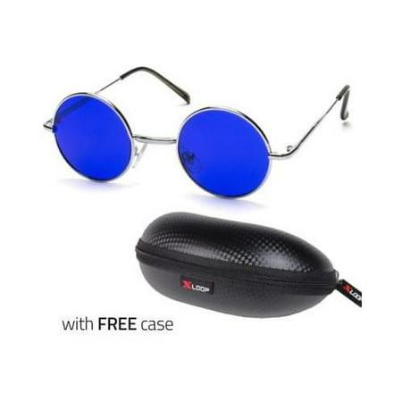 e96a756bf23f Sunny Shades - John Lennon Style Vintage Classic Circle Round Sunglasses  Men Women Color BLUE C - Walmart.com
