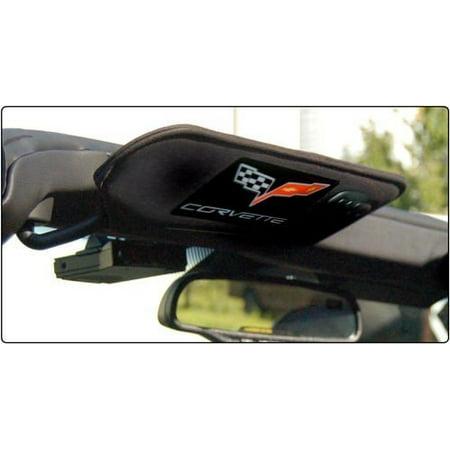 - Corvette C6 Carbon Fiber Sunvisor Decal Covers - Domed (Pair)