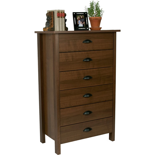 Nouvelle 6-Drawer Dresser, Walnut