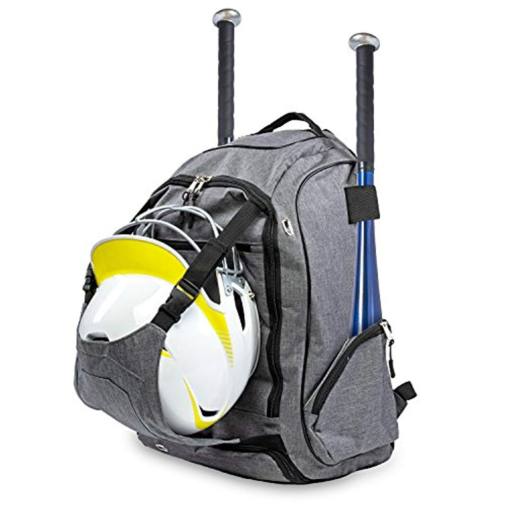 Bodys Choice Baseball Gear Bag � Equipment Backpack Fits 2 Bats, Vented Shoes Compartment, Gloves, Helmet, and Cleats �... by Body's Choice