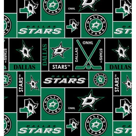 Dallas Stars Super Soft Fleece Fabric Classic Geometric Design-Sold By The Yard