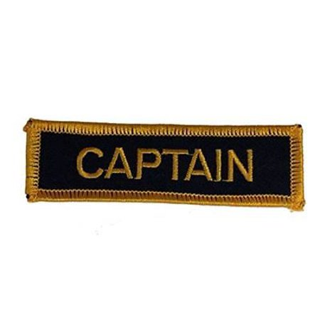 - USN CAPTAIN NAME TAPE STYLE PATCH GOLD NAVY BLUE