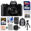 Canon PowerShot G5 X Wi-Fi Digital Camera with 64GB Card + Backpack + Battery & Charger + Flex Tripod + Kit