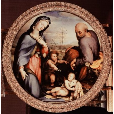 Holy Family With St John The Baptist Domenico Beccafumi (1486-1551 Italian) Canvas...