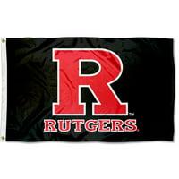 Rutgers Scarlet Knights Black 3' x 5' Pole Flag