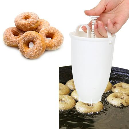 Jeobest Doughnut Maker Dispenser - Mini Donut Maker Dispenser - Kitchen Plastic Batter Dispenser DIY Donut Maker Dispenser Fry Donut Cookies Mold for Waffles Donut Baking Gadget -