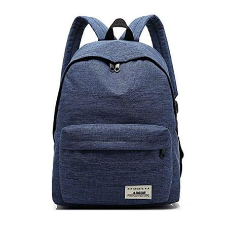 d7dc7e86f4bd Casual Laptop Backpack Classic Bookbag FC ENERGY Water Resistant Rucksack  for 14″ Tablet Travel - Blue - Walmart.com