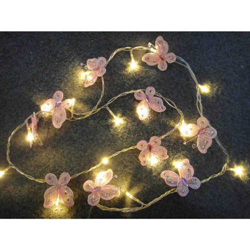Battery-Operated Butterfly Lights, 10 Lights
