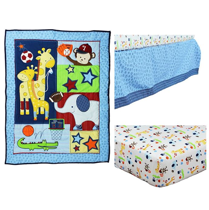 Riegel Ready Set Go 3-Piece Crib Bedding Set
