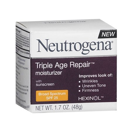 Neutrogena Spf 25 Triple Age Repair Moisturizer Day Cream  1 7 Oz  6 Pack