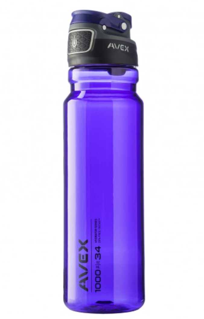 34 OZ. FREEFLOW AUTOSEAL WATER BOTTLE PURPLE by Ignite