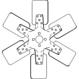 A173040 6 Blade Fan For Case-IH Tractor Models 420B 500B