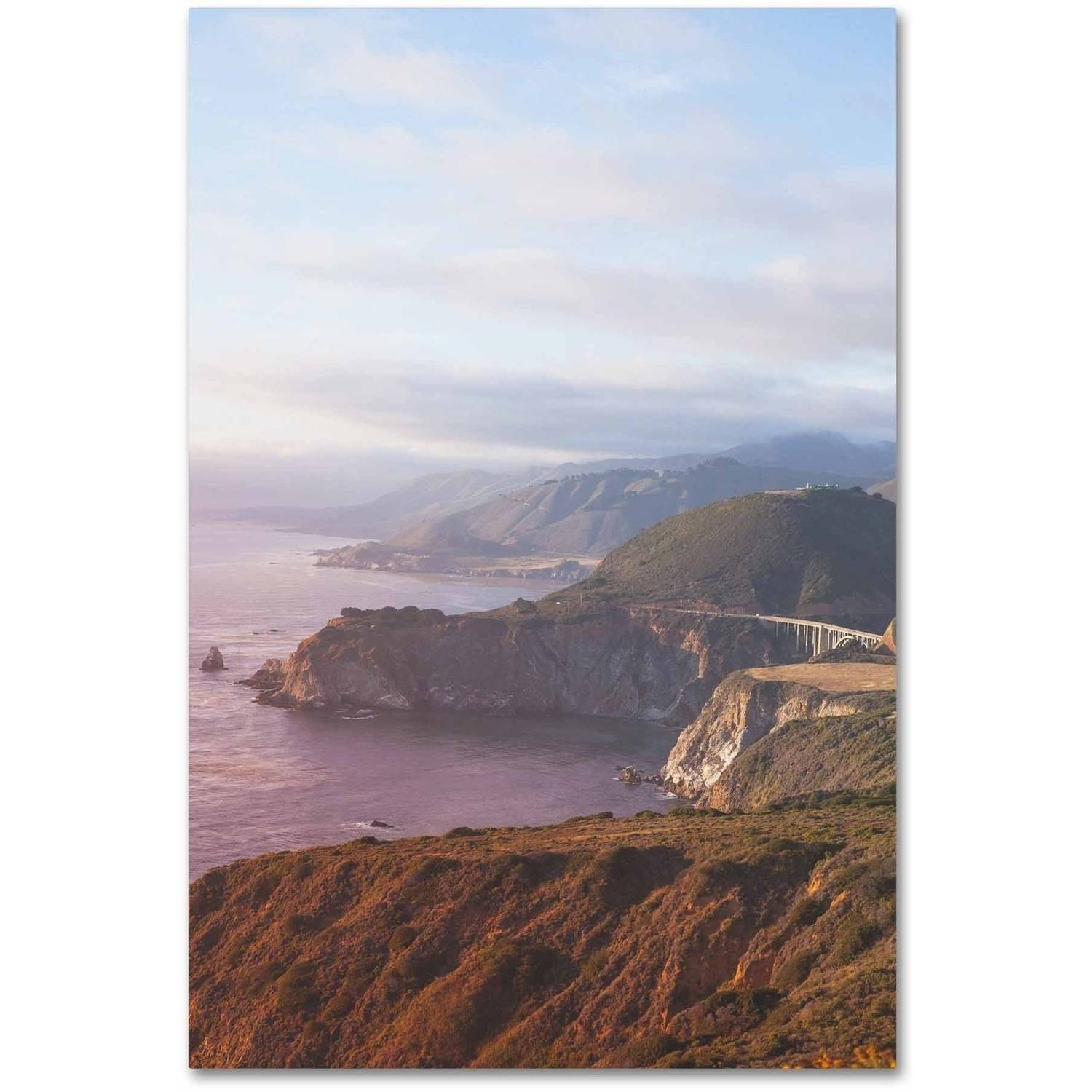 Trademark Fine Art 'Big Sur Coast Sunset' Canvas Art by Ariane Moshayedi