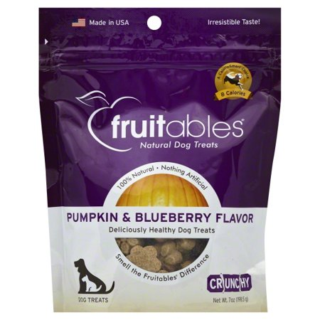 Fruitables Dog Treats Pumpkin & Blueberry Flavor, 7 oz (Dog Dressed As Pumpkin)