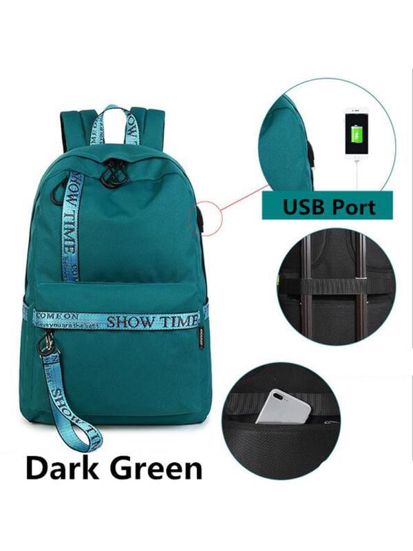 Meigar Women School Backpack Shoulder Bag Laptop Rucksack Handbag Anti-Theft