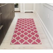 Ottomanson Glamour Collection Moroccan Trellis Area Rugs And Runners Various Colors Product Variants Selector Hot Pink Dark Grey