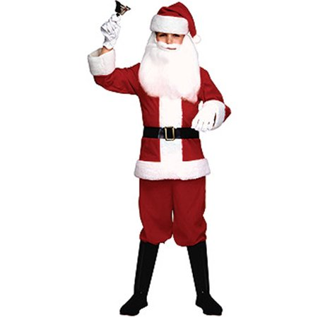 Kids Boys Red White Christmas Santa Clause Costume