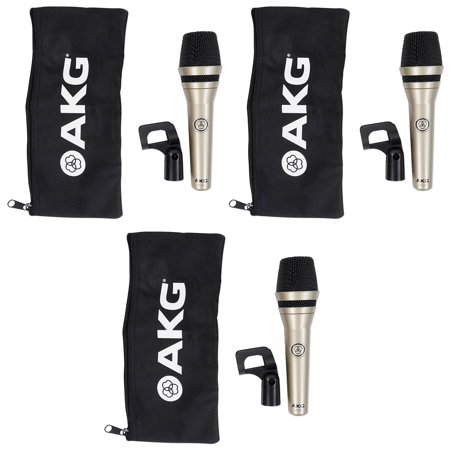 (3) AKG D5 LX Handheld Live Sound Vocal Microphones Dynamic Supercardioid