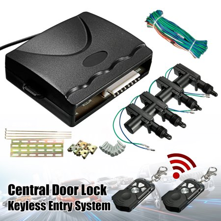 Car Central Power Door Lock Unlock Remote Kit Keyless Entry System  Universal 2 4 Door