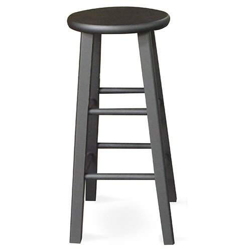 Round top bar stool quot black walmart