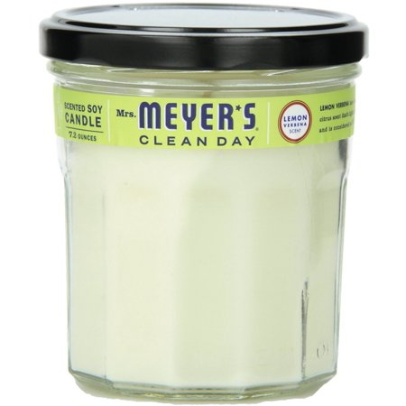 Mrs. Meyers Clean Day Soy Scented Candle, Lemon Verbena  7.2