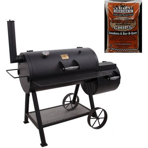 Oklahoma Joe Highland 879 sq in Smoker with BONUS Luhr Jensen Mesquite Chips 'N Chunks