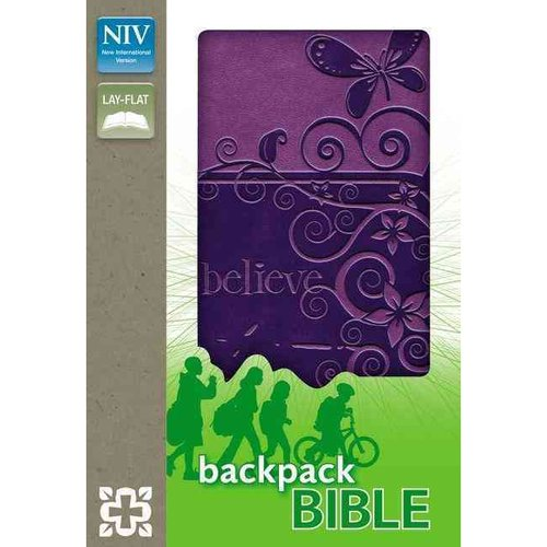 Holy Bible: New International Version, Pizzazz Purple, Italian Duo-Tone, Backpack Bible
