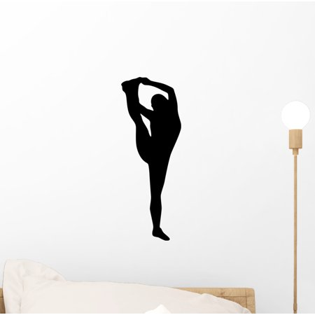 Cheer Silhouette Black Wall Decal by Wallmonkeys Peel and Stick Graphic (12 in H x 4 in W) WM264154 - Cheer Silhouette