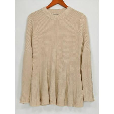 Laurie Felt Women's Sweater Sz M Cashmere Blend Crew Neck Beige (Beige Cashmere Blend)