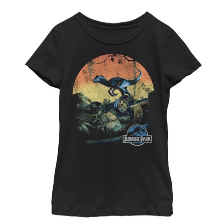 Retro Girls (Jurassic World Girls' Retro Raptor Sunset)