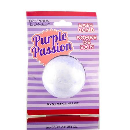 Upper Canada Soap Brompton & Langley Bath Bomb Purple Passion - 6.3 oz